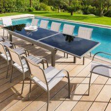 שולחן אלומיניום נפתח200-3.20 ללא כיסאות