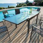 שולחן נפתח מאלומיניום עם זכוכית מחוסמת 1.35-2.70 0579