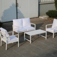 מערכת ישיבה אלומיניום Laos צבע לבן 0310