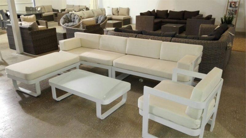 מערכת ישיבה פינתית ענקית מאלומיניום Florentin 0330