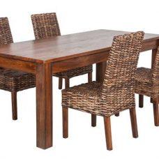 שולחן מעץ מלא New Gitti דגם נועם 1139