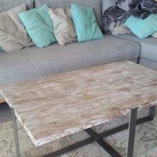 שולחן מעץ מלא לסלון דגם Yehonatan 1147