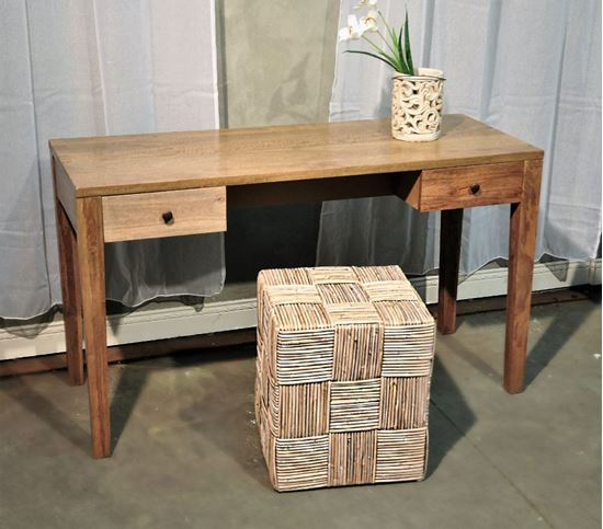 שולחן למידה /שידת איפור דקורטיבית מעץ מנגו מלא 1146