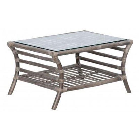 שולחן מעוצב מעץ במבוק דגם Matan 1151