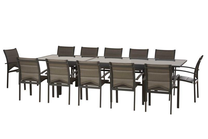 שולחן נפתח במידות 200-320/105 +6 כיסאות 0576