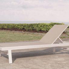 מיטת שיזוף מאלומיניום ובד טקסליין דגם Miami